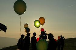 Sonne in Ballon