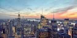 Sonnenuntergang in Manhattan