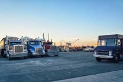 Truck Stop am Hafen in Brooklyn