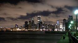 Cloudy Chicago Skyline