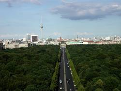 Blick auf Stadtsilhouette