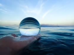 Morning Ocean in Glass Ball