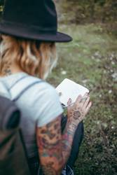 Modern hipster girl takes some notes