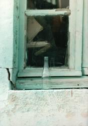 Flasche am Fenster