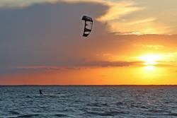 Sonne Wind Meer Mensch