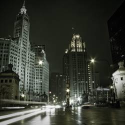 Windy City mit Regen