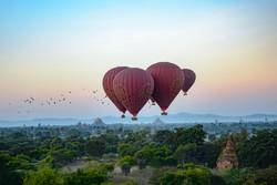 Flying over Bagan