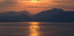 Sunset, Evening, Lake Garda,