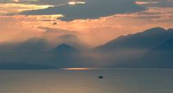 clouds, thunderstorm, sunset; Evening