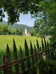 Church, Sankt Leonhard, Neuhaus, landscape,