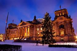 Berlin Reichstag Weihnachten