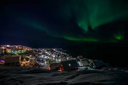 Northern lights over Nuuk