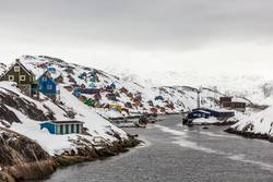 Kangamiut arctic village in the middle of nowhere