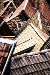 Dächer, Dachzeigel, Giebel, Altstadt von Quedlinburg