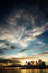 Sonnenuntergang Seychellen Mahe Island