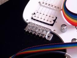 e-guitar focused