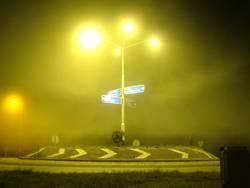 Kreisverkehr in gelb