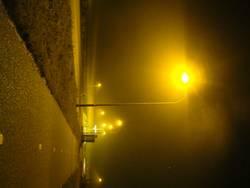 Straße in gelb