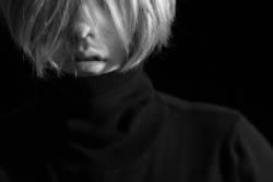 schwarzes portrait