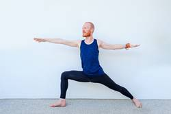 Yoga teacher showing different yoga poses.