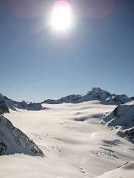 Gletscher - blue sky high