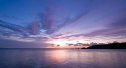 purple blue sea sunset