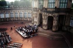 Orchester von oben