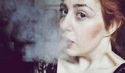 weißer rauch.