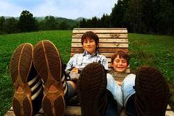 Leben auf großen Füßen
