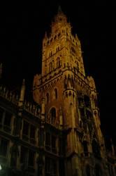 Munich downtown at night