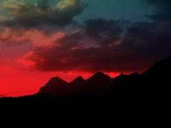 Berg im Abendrot