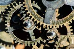 Gears and texts texts core, values, trust, ethics, reliability
