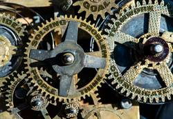 Gears and texts people, problem, solving, teamwork, idea