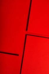 Red paper material design. Geometric unicolour shapes