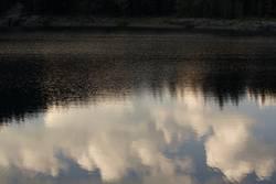 Wolkenspiegelung