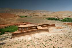 Clay house in valley of Atlas