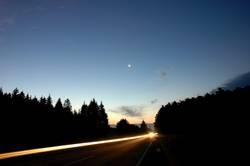 Lichtstrahl am Morgen
