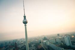 Sunset with TV tower over Berlin
