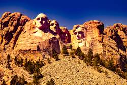 Mount Rushmore front view