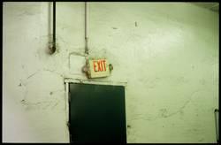 exit through the...