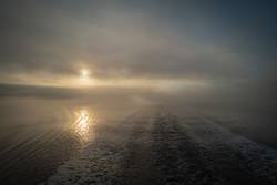 Morgenstimmung am Saguenay Fjord während einer Schiffsreise
