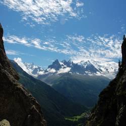 mountains framed
