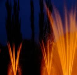 leuchtende Fontänen
