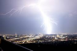Blitz über Wien