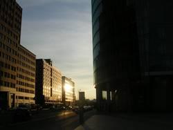 Sunset Berlin Potsdamer Platz