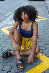 Portrait of urban woman