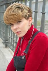 Portrait of Rebel adolescent