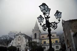 Taormina bei Nebel