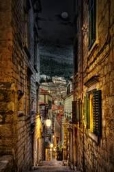 Dubrovnik bei Nacht HDR
