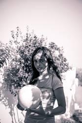 Im Schatten mit Ball
